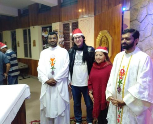 Fr. Binesh ISch and team with Schoenstatt Migrant Youth Ministry, Bangalore