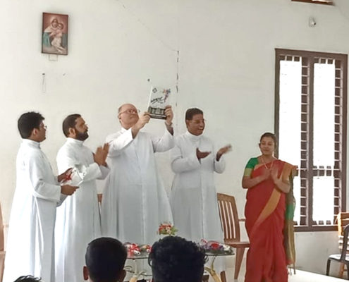The annual gathering of Schoenstatt Fathers 2019 was held in Aluva regional house from February 10 to 16. Very Rev. Fr. Juan Pablo Catoggio, General Superior of Schoenstatt Fathers inaugurated the assembly and he addressed the fathers in the conference. Responsible persons presented reports on their assigned duties and offices. The previous year was evaluated and common opinions were collected for the well-being of the apostolate of Schoenstatt in India. New projects and programs were suggested for the coming years. The newly ordained priest, Fr. Christo Karakkattu was welcomed along with his family during the annual gathering.